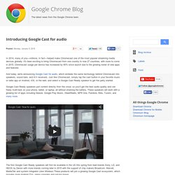 Introducing Google Cast for audio
