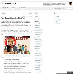TOLDJA: Why Google Circles is a Giant Fail « Marketing Nirvana