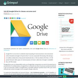 Usi di Google Drive in classe: eccone uno! - GRIMPO!