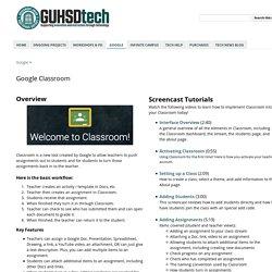 Google Classroom - @GUHSDtech
