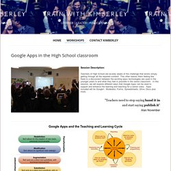 Google Apps in the High School classroom - Train with Kimberley
