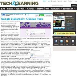 Google Classroom: A Sneak Peek