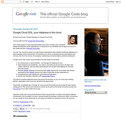 your database in the cloud - The official Google Code blog