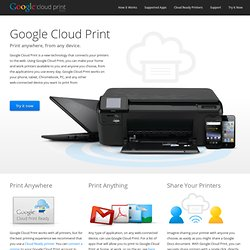 Connect a printer to Google Cloud Print