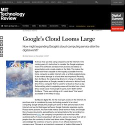Google's Cloud Looms Large