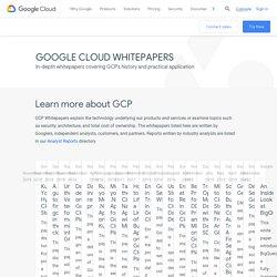 Google Cloud Whitepapers