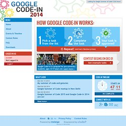 Google Code-in 2014 - Home page
