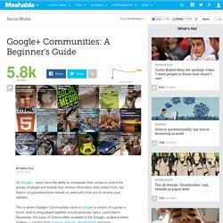 Google+ Communities: A Beginner's Guide