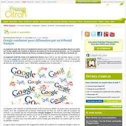 Google condamné pour diffamation
