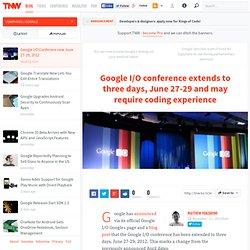 Google I/O Conferece now June 27-29, 2012