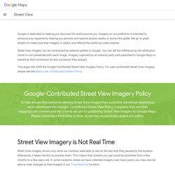 Règlement relatif aux images StreetView publiées par Google
