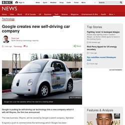 Google creates new self-driving car company