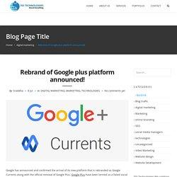 Google Currents 2020
