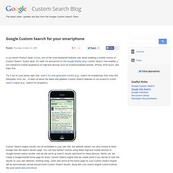 Google Custom Search for your smartphone