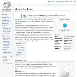 Google Daydream - Wikipedia
