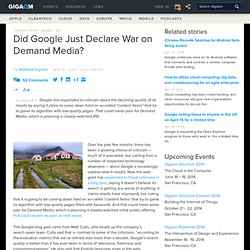 Did Google Just Declare War on Demand Media?: Tech News and Analysis «