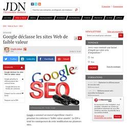 Google déclasse les sites Web de faible valeur