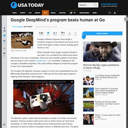 Google DeepMind's program beats human at Go