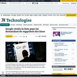 Google révèle la liste pays lui demandant de supprimer des liens