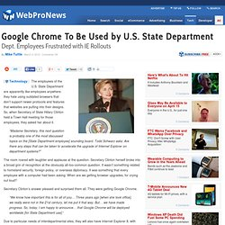 Google Chrome To Be Used by U.S. State Department