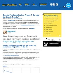 Google Panda est déployé en France !