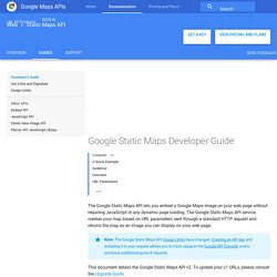 Google Static Maps Developer Guide