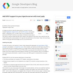 Add SPDY support to your Apache server with mod_spdy