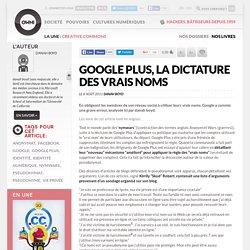 Google Plus, la dictature des vrais noms