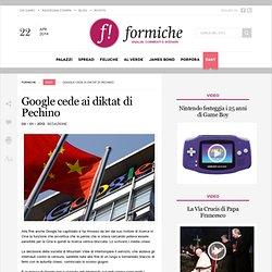 Google cede ai diktat di Pechino