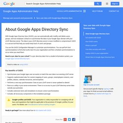 About Google Apps Directory Sync - Google Apps Administrator Help