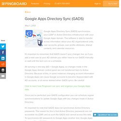 Google Apps Directory Sync (GADS)
