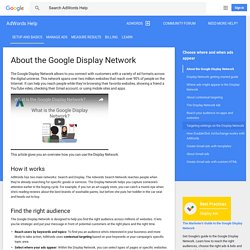 About the Google Display Network - AdWords Help