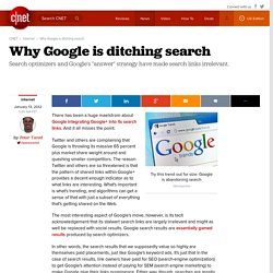 Why Google is ditching search