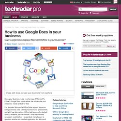 How to use Google Docs in your business