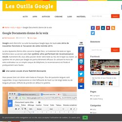 Google Documents donne de la voix