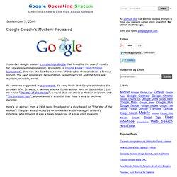 Google Doodle's Mystery Revealed