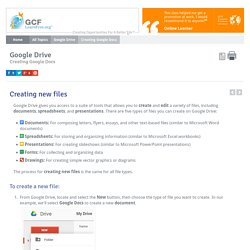 Google Drive: Creating Google Docs