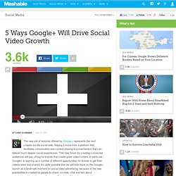 5 Ways Google+ Will Drive Social Video Growth