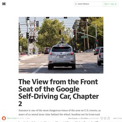 The View from the Front Seat of the Google Self-Driving Car, Chapter 2