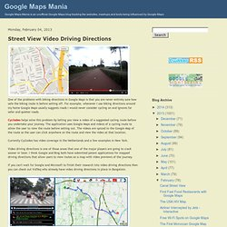 Street View Video Driving Directions