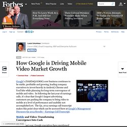 How Google is Driving Mobile Video Market Growth