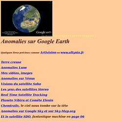 Google Earth Anomalies