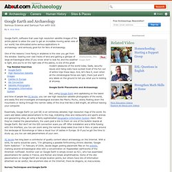 Google Earth and Archaeology
