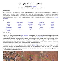 Google Earth Fractals