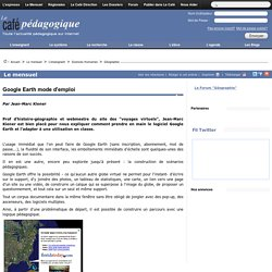 Google Earth mode d'emploi