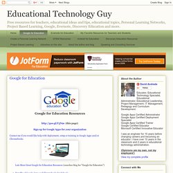 Google for Education Resources