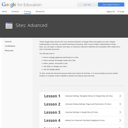 Google for Education: Sites: Advanced