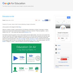 Google for Education: Education on Air