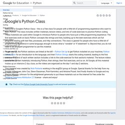 Google's Python Class - Educational Materials