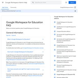 Apps for Education - Common Questions - Google Apps Help